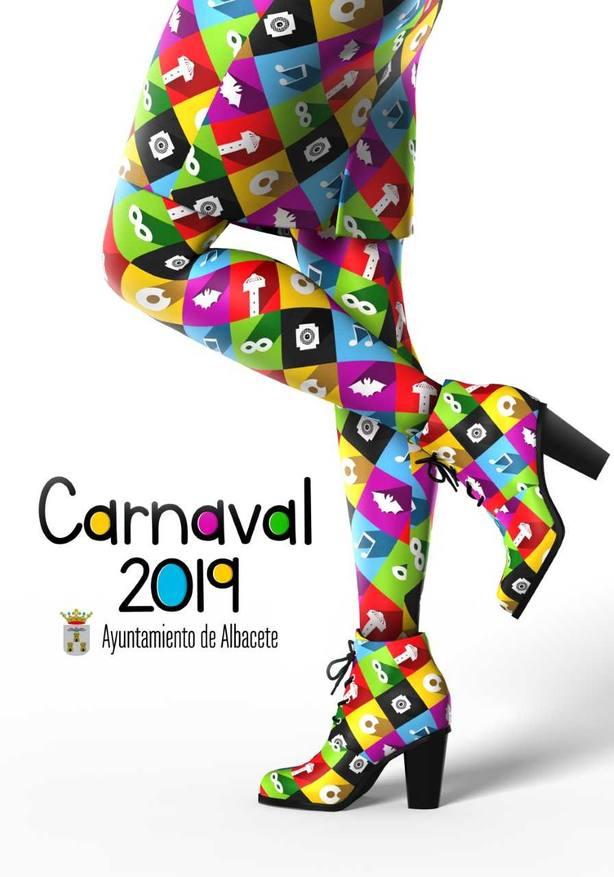 'Bonito disfraz', obra de Rubén Lucas García, ganador del Cartel de Carnaval 2019