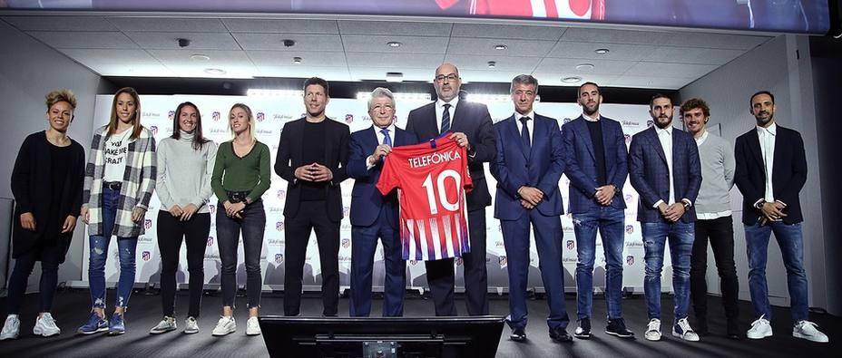 Telefónica amplía su alianza con el Atlético de Madrid y será su socio tecnológico los próximos cuatro años