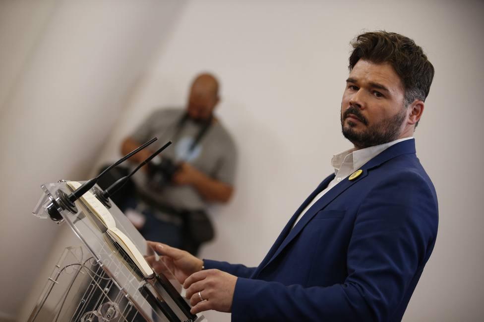 Rueda de prensa de Gabriel Rufián