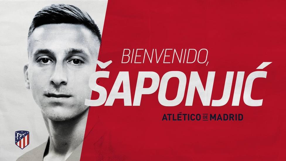 Saponjic, nuevo fichaje del Atlético de Madrid