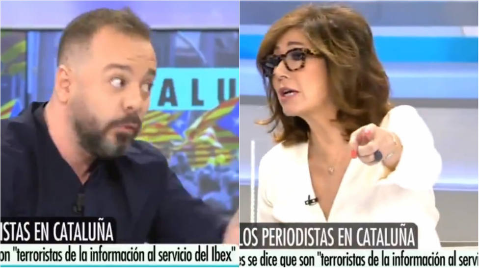 """El momento más tenso entre Ana Rosa y Antonio Maestre por las amenazas a periodistas: """"¿Tú estás en la calle?"""""""
