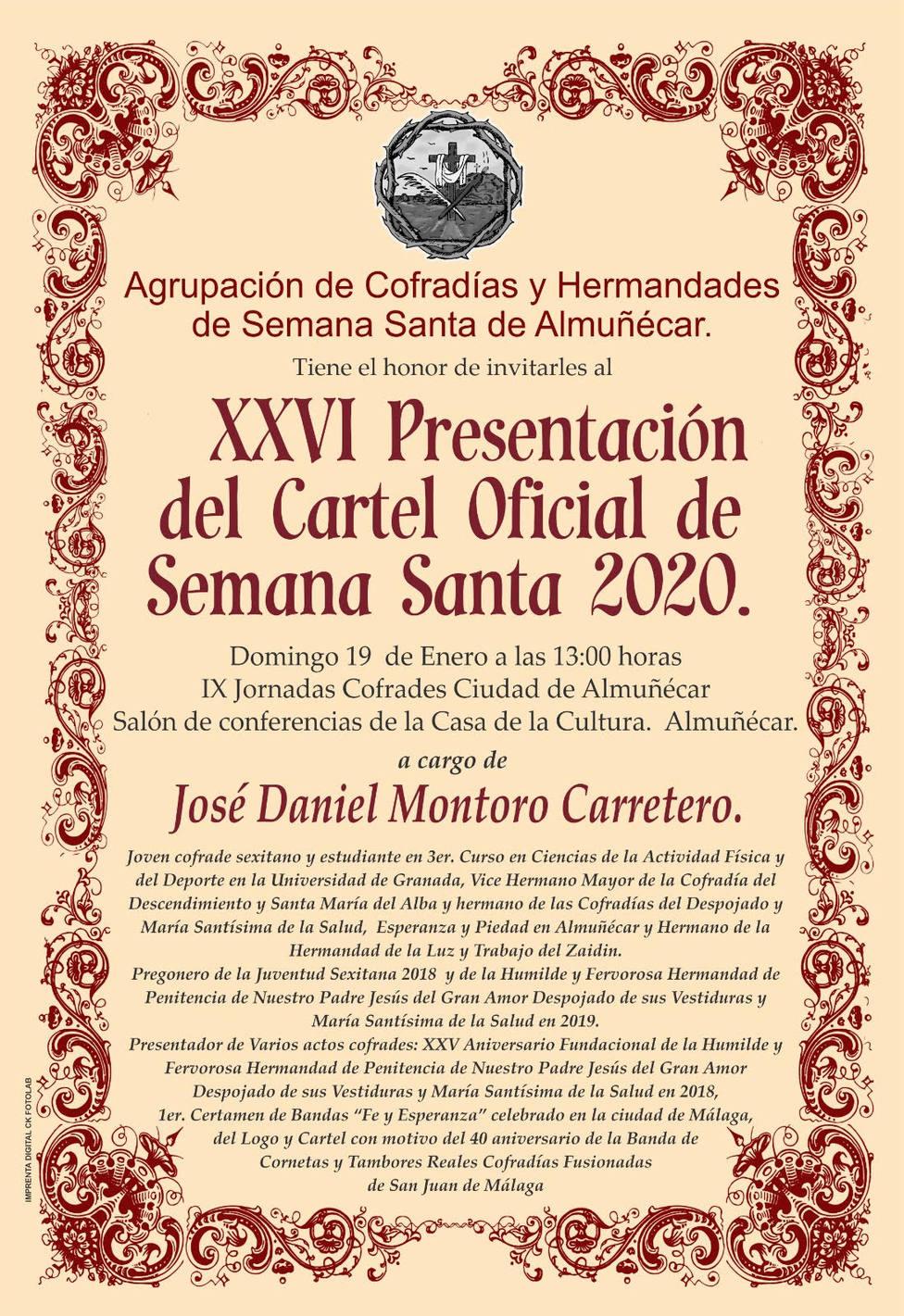 CARTEL PRESENTACION CARTEL SEMANA SANTA 2020