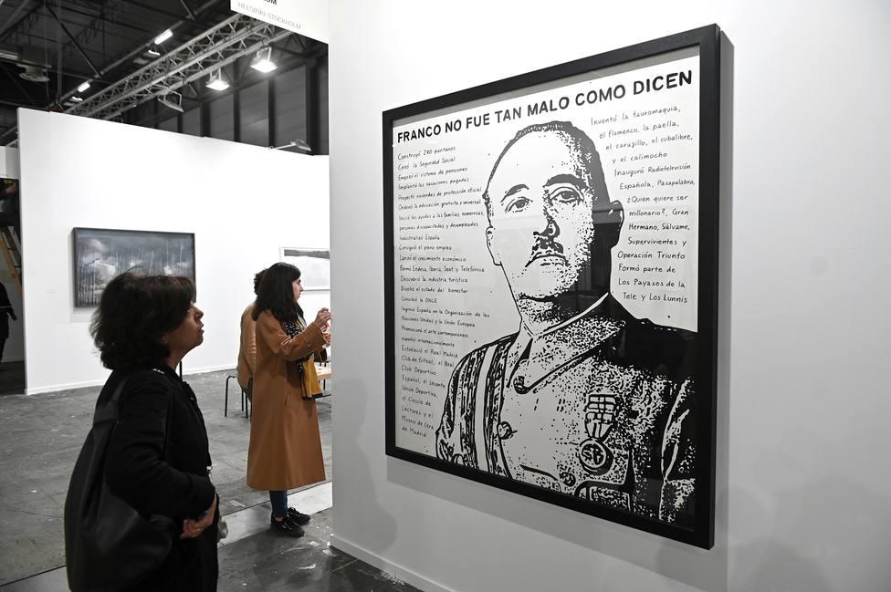 La obra Franco no era tan malo como dicen, valorada en 15.000 euros en ARCO