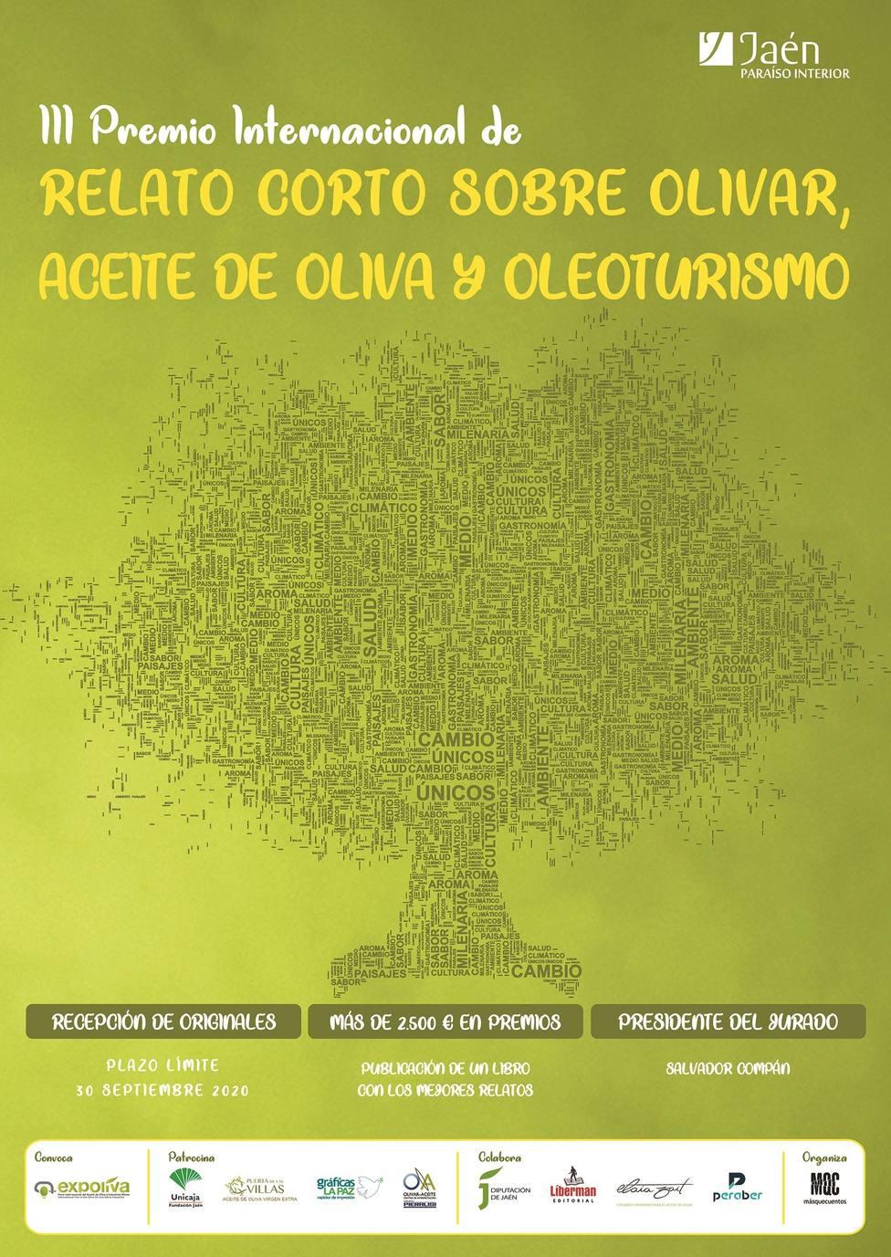 Cartel III premio relato corto sobre Olivar
