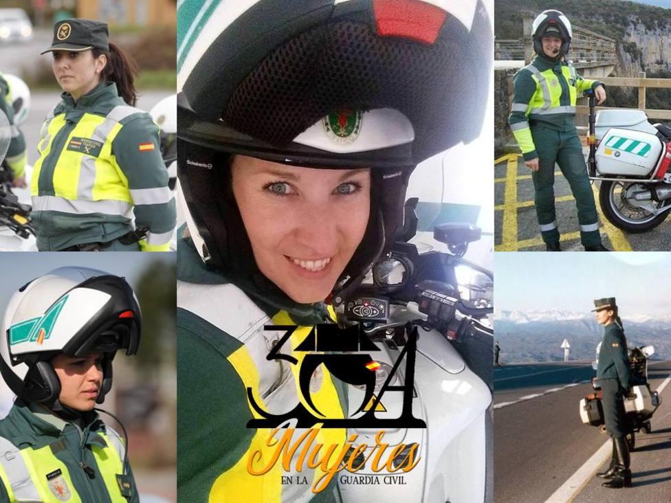 La Guardia Civil homenajea a Beatriz, la primera motorista del cuerpo hace 29 años