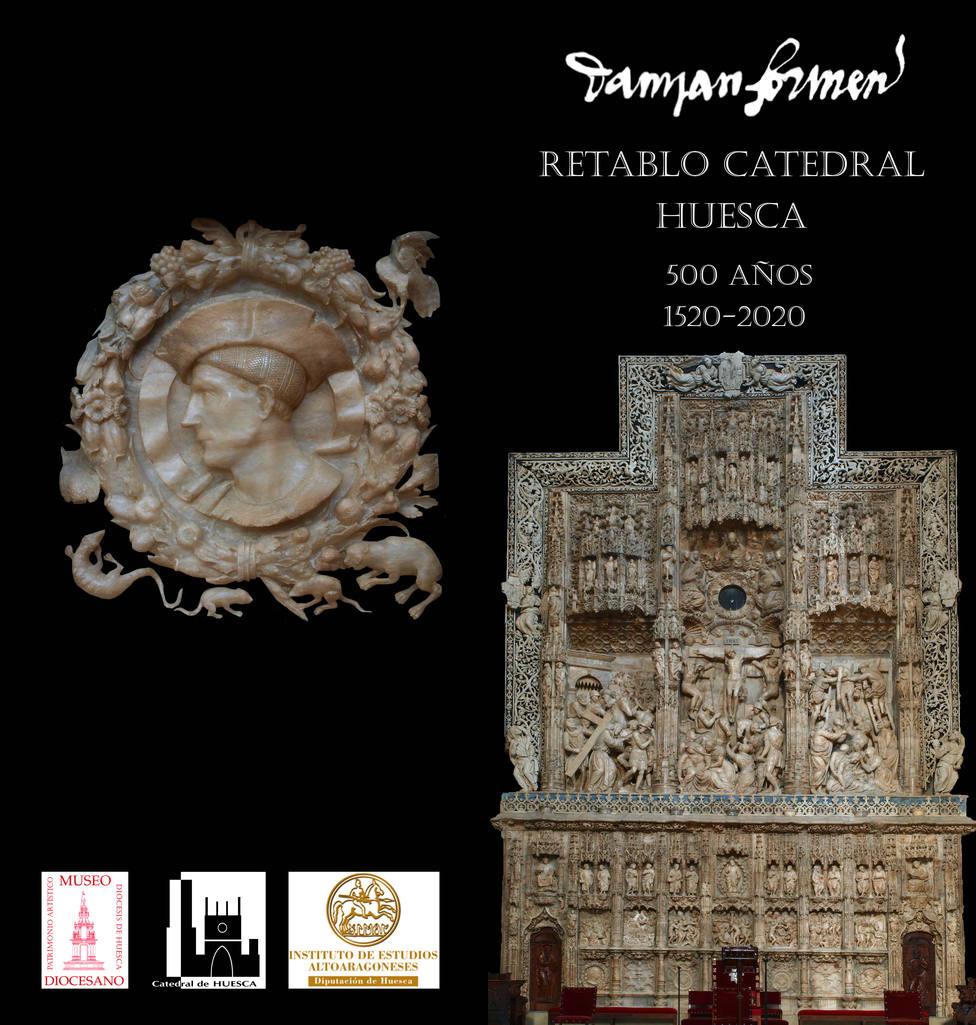 Díptico de actividades 500 años firma Retablo Mayor Catedral