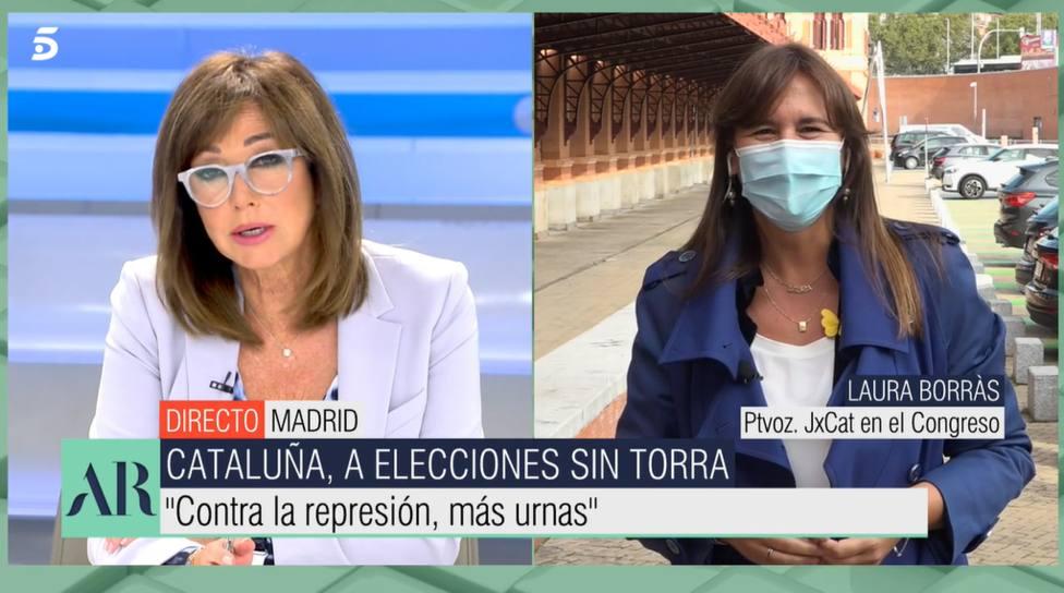 Ana Rosa Quintana y Laura Borràs (Telecinco)