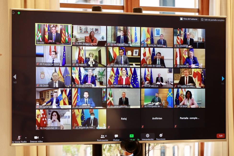 La mayoría de líderes autonómicos piden a Sánchez claridad en el reparto de fondos europeos