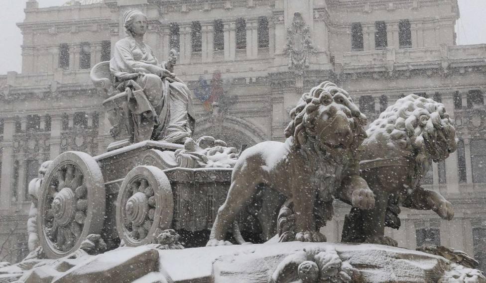 Activado el nivel rojo por fuertes nevadas en Madrid y Castilla-La Mancha