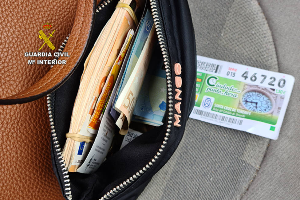 Dinero en metálico hallado en el momento de la detención