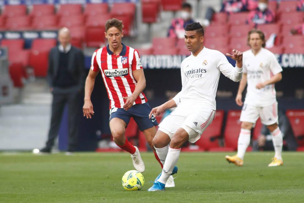 Casemiro, en el derbi ante el Atlético de Madrid (Cordon Press)