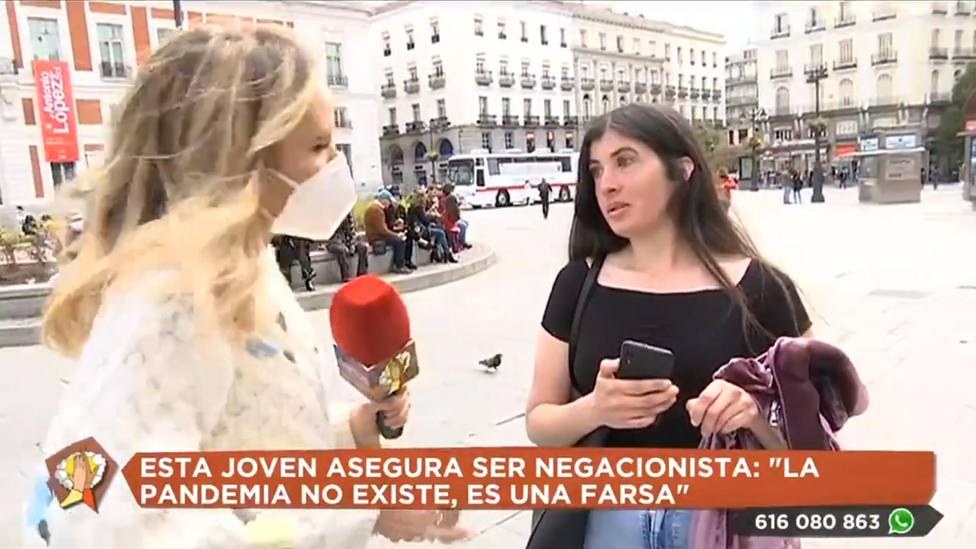 Un reportera de Telemadrid deja sin palabras a una negacionista en plena calle: Libertad de expresión