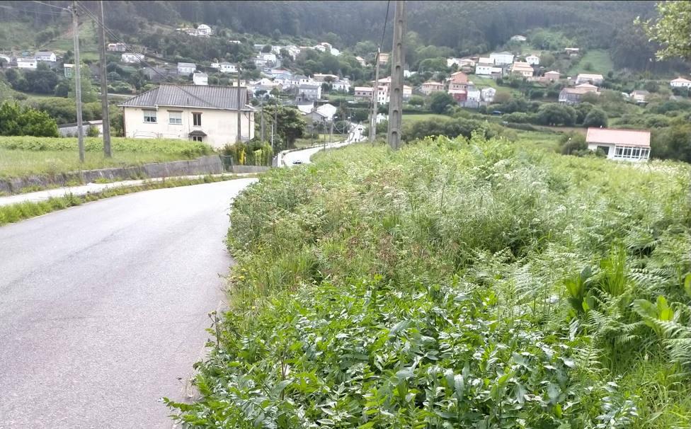 Imagen de la carretera por San Jorge - FOTO: PP de Ferrol
