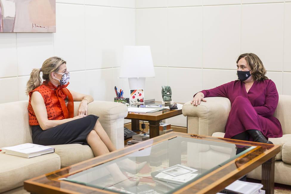 Yolanda Díaz ensalza la labor de Ada Colau en Barcelona: No deja solo a nadie