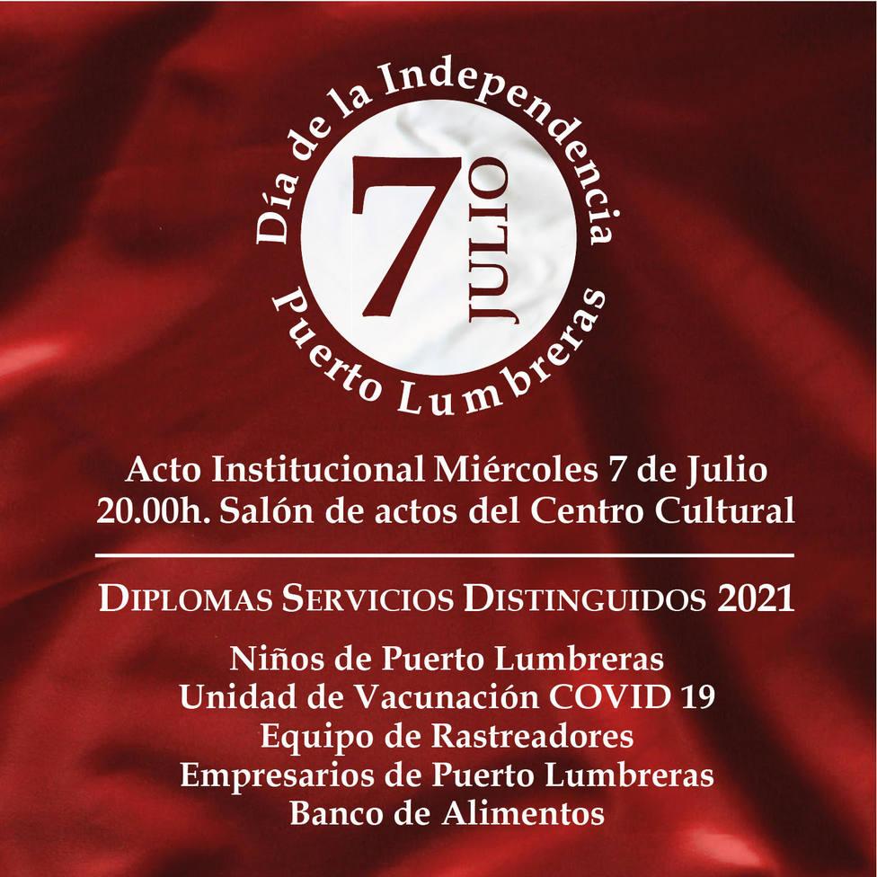 Puerto Lumbreras conmemorará el día de la Independencia
