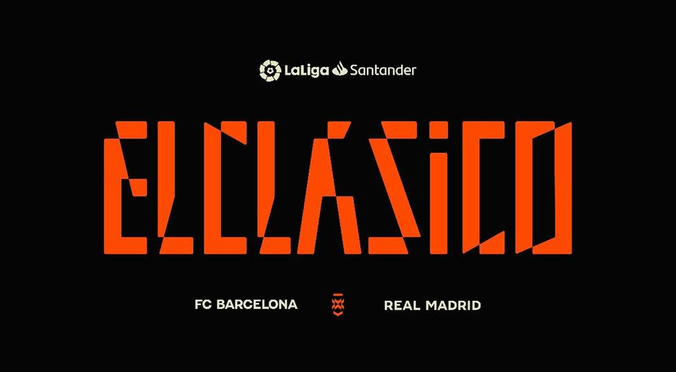 Logotipo creado por LaLiga para impulsar ElClasico