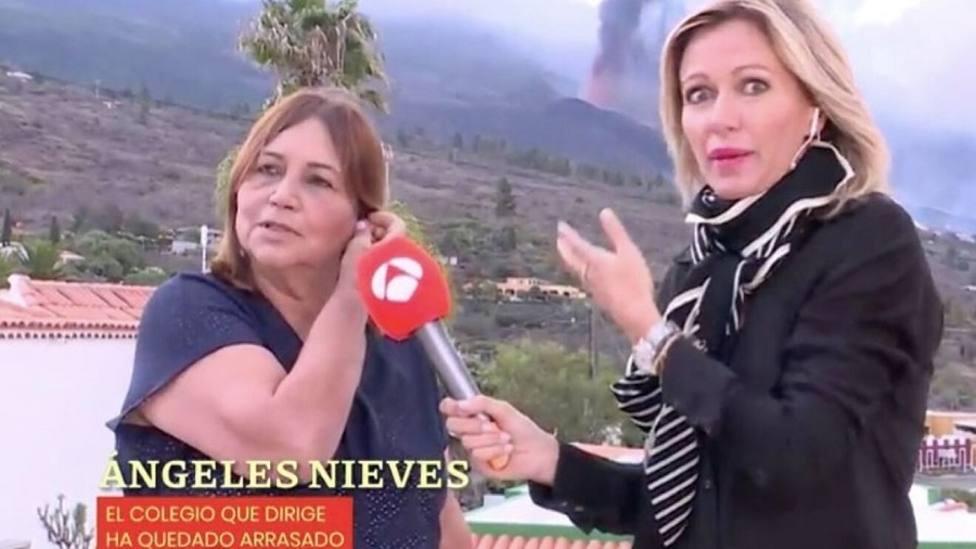 """Susanna Griso, impresionada y asustada por el rugido del Volcán de La Palma: """"¿Qué está pasando?"""""""