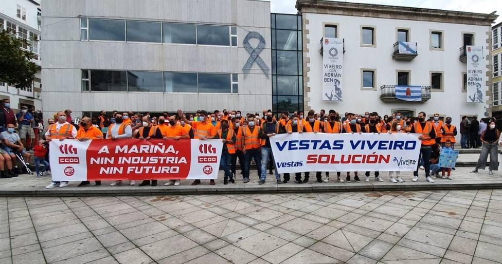 Manifestación de trabajadores de Vestas en Viveiro