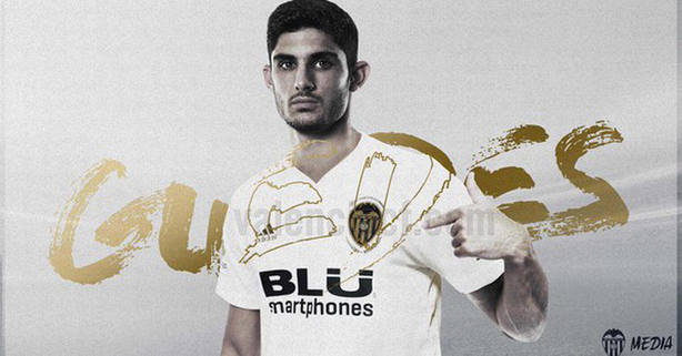 Guedes, nuevo jugador del Valencia