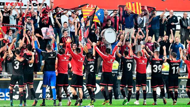 Imagen del Reus tras un partido de LaLiga 123 (@cfreusdeportiu)