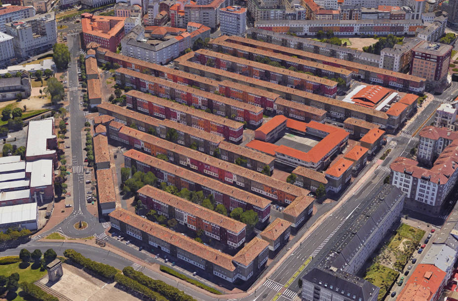 Vista aérea del barrio de Recimil