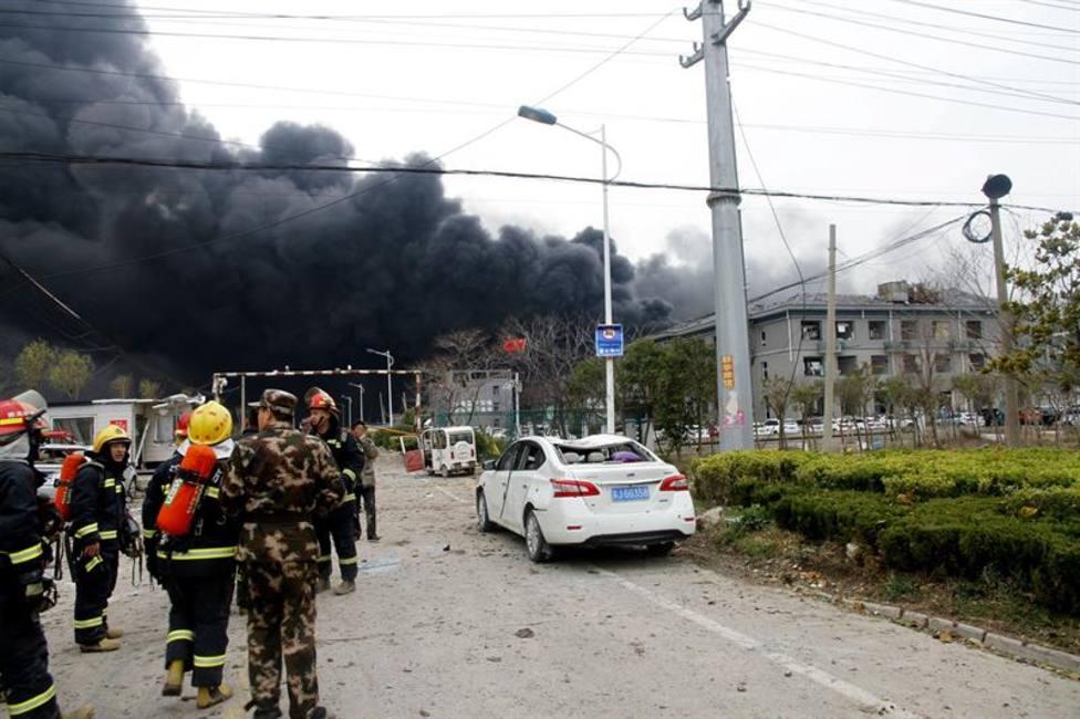 Al menos 44 muertos y 90 heridos a causa de una explosión en una fábrica en China