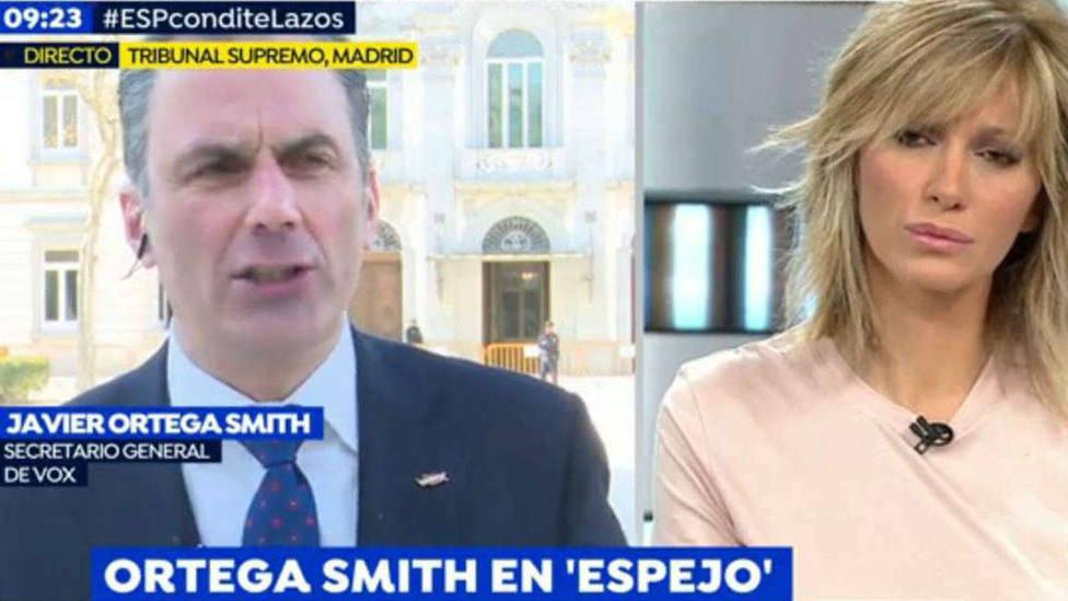Tremenda bronca como respuesta de Ortega Smith (Vox) a Susanna Griso: Ya está bien de la misma matraca