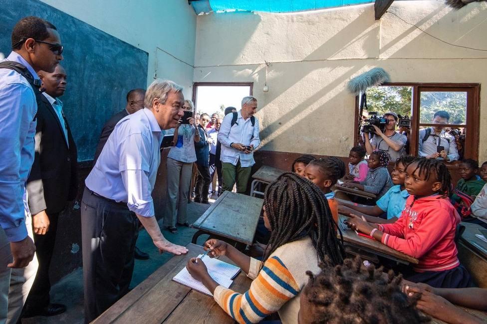 Guterres aplaude la capacidad de recuperación de los mozambiqueños tras los ciclones