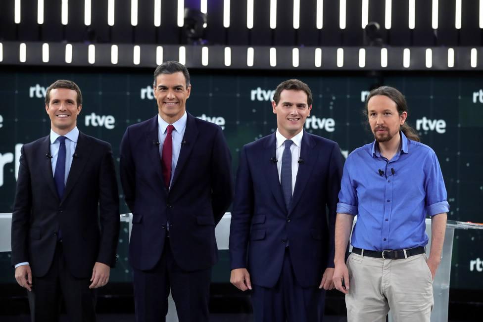 Debate a cuatro entre los principales líderes políticos que aspiran a la Presidencia del Gobierno