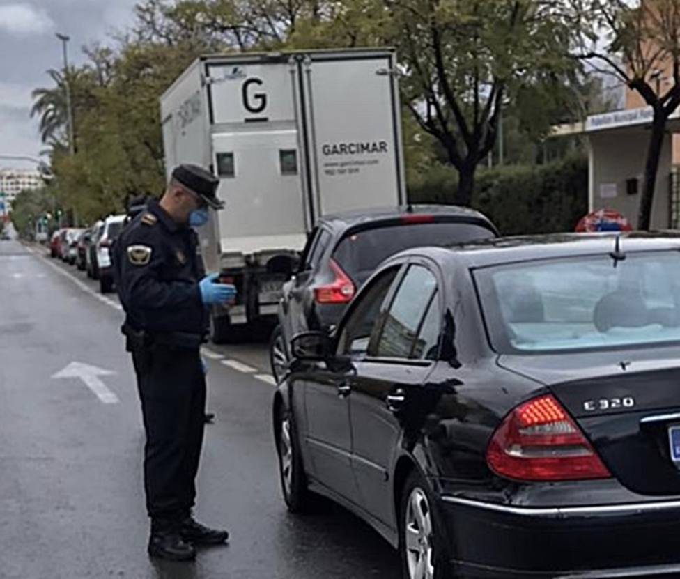 Control Policía Local ante la alerta sanitaria.