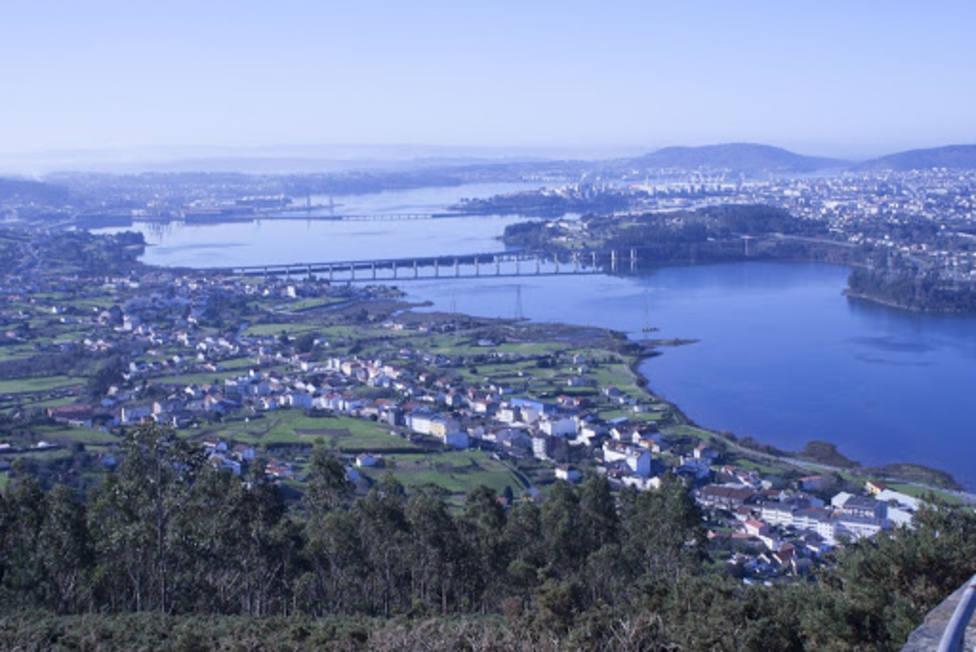 Vista desde el Monte de Ancos de Neda, Fene, Narón y Ferrol. FOTO: Turismo de Neda