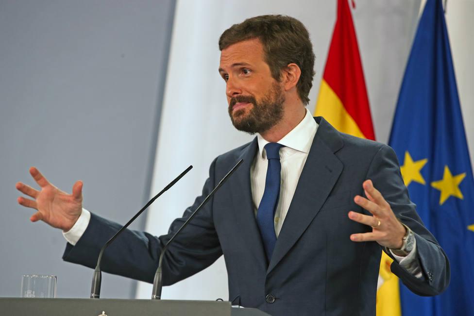 Casado asegura tras los datos del FMI, que España se hunde por la incompetencia del Gobierno