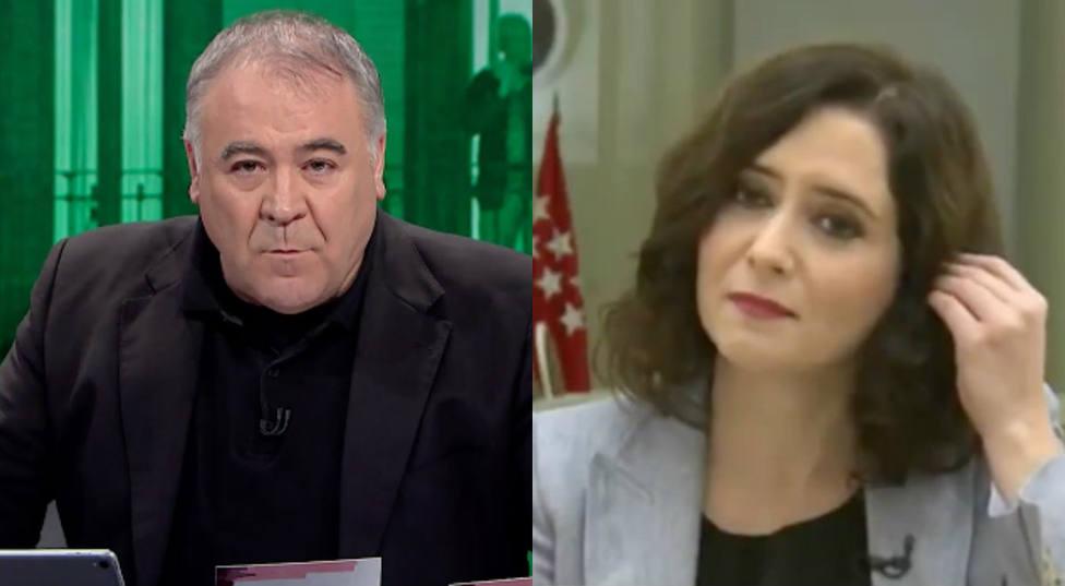 Antonio García Ferreras e Isabel Díaz Ayuso