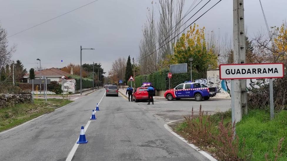 Control policial en Guadarrama