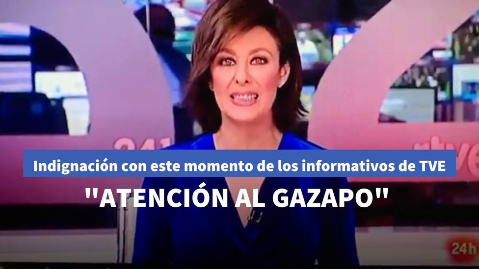 Indignación con este momento que han dejado los informativos de TVE: ATENCIÓN AL GAZAPO