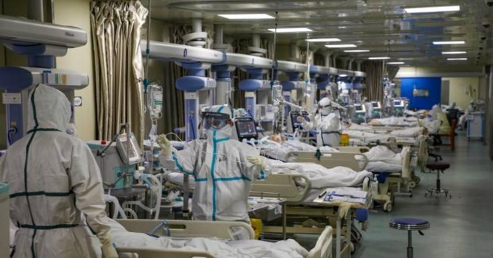Pacientes con coronavirus en hospital