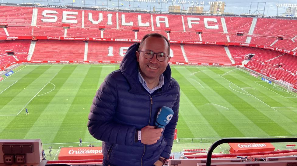 José Manuel Oliva, en el Sánchez Pizjuán