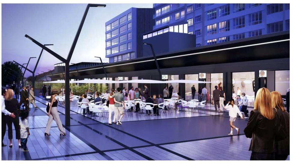 Recreación virtual de posibles usos futuros en este espacio - FOTO: Concello de Ferrol