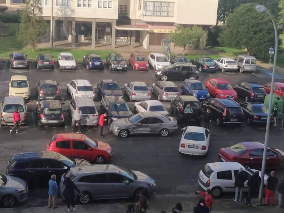 Algunos de los vehículos accidentados fueron retirados para facilitar la circulación - FOTO: Trá. Ferrolterra