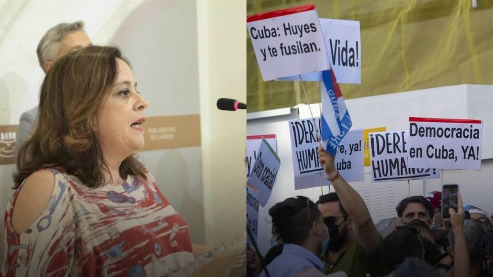 La vicepresidenta del Parlamento de La Rioja llama mercenarios a los cubanos que piden libertad y derechos
