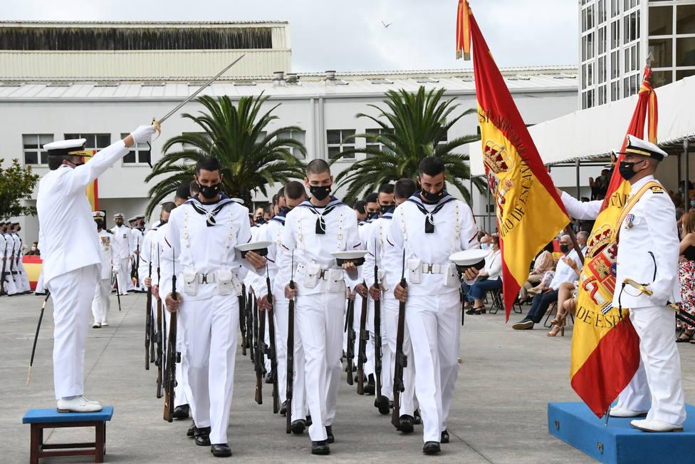 """La jura de bandera tuvo lugar en la Escuela de Especialidades """"Antonio de Escaño"""". FOTO: Armada"""
