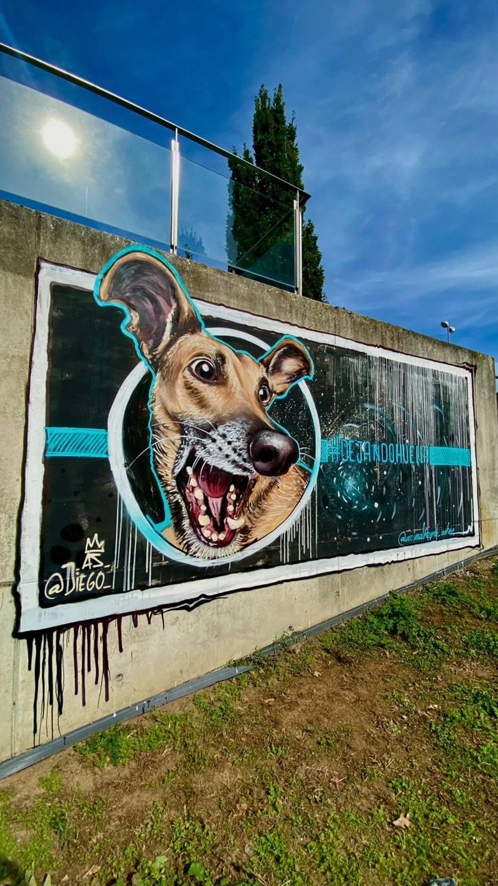 Graffiti de Diego As en el campus de Lugo
