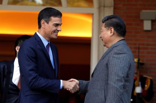 Sánchez y Xi Jinping en la Moncloa