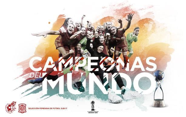 La selección española, campeona del mundial sub 17 femenino