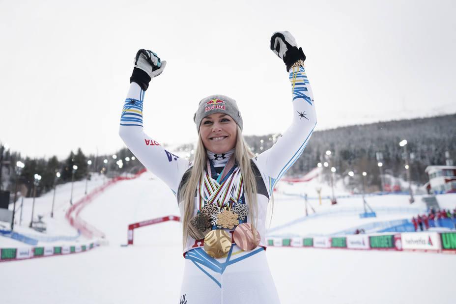 Lindsey Vonn se despide con un bronce mundialista en la prueba de descenso