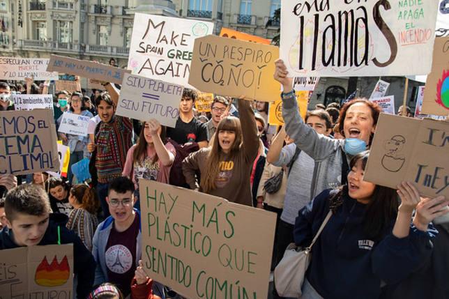 La huelga estudiantil para frenar el cambio climático llega a España