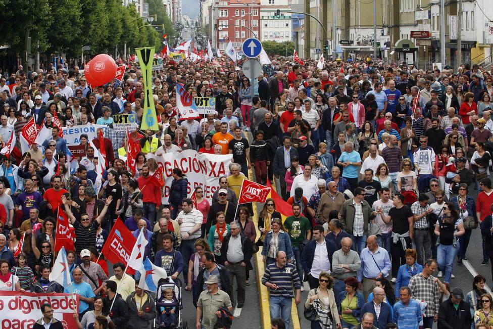 Manifestación comarcal en el año 2013 - FOTO: Efe / Kiko Delgado