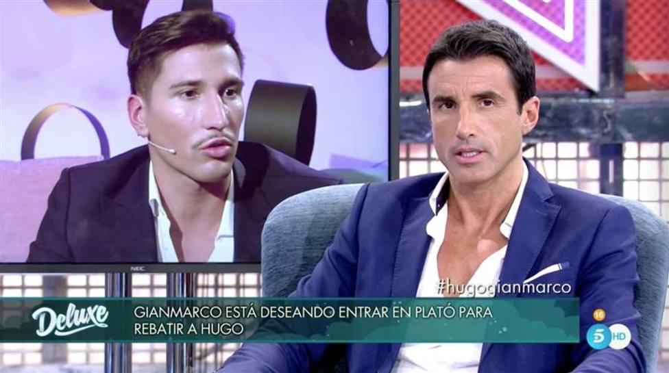 Hugo Sierra y Gianmarco se ven las caras en el plató de Sábado Deluxe