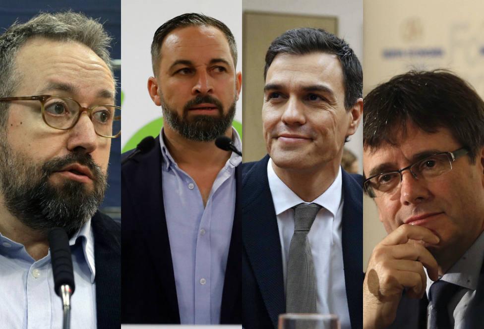 El irónico mensaje de Girauta sobre Vox, Pedro Sánchez, Otegi y el partido de Puigdemont