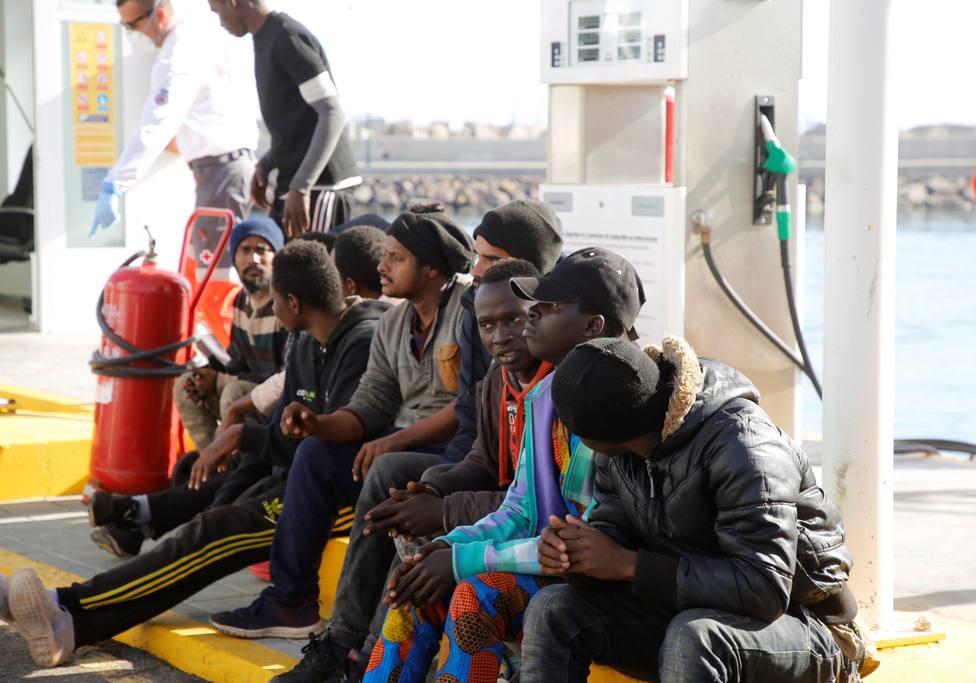 Trasladan a Melilla a últimos 30 migrantes llegados Chafarinas en Nochebuena